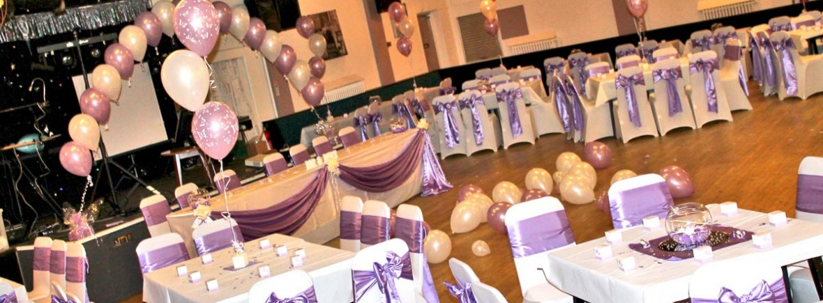 decorated wedding venue