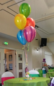cluster of 5 balloons