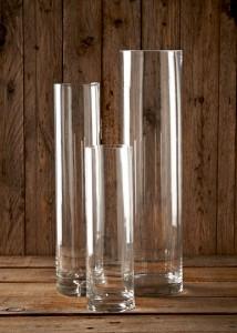 3 x cylinder vases