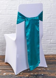 wedding venue chair cover flick over sash