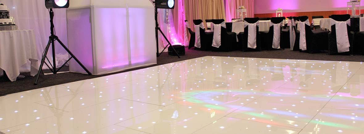 wedding reception led dance floor