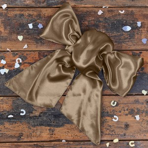 Satin Light Brown Bow