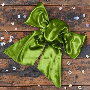 Satin Olive Green Bow