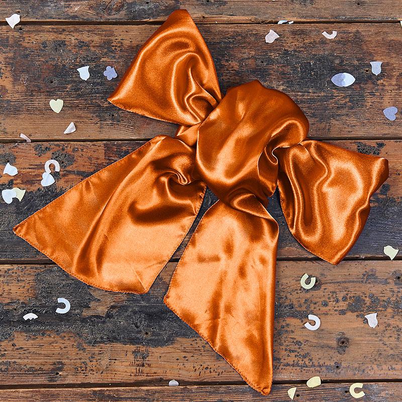 Satin Orange Bow