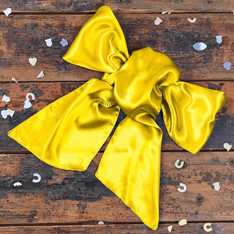 Satin Yellow Bow