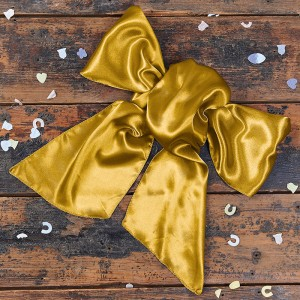 Satin Yellow Gold Bow