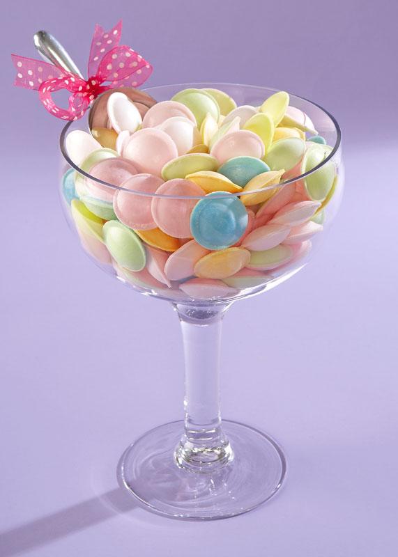 candy buffet wine glass
