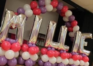 Foil Balloon Lettering