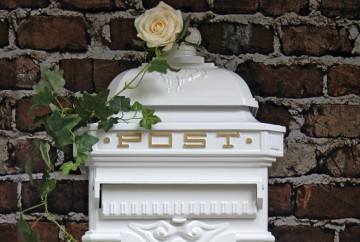 metal wedding post box