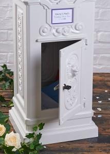 wedding post box secure locking door