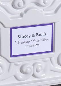 wedding post box name plate