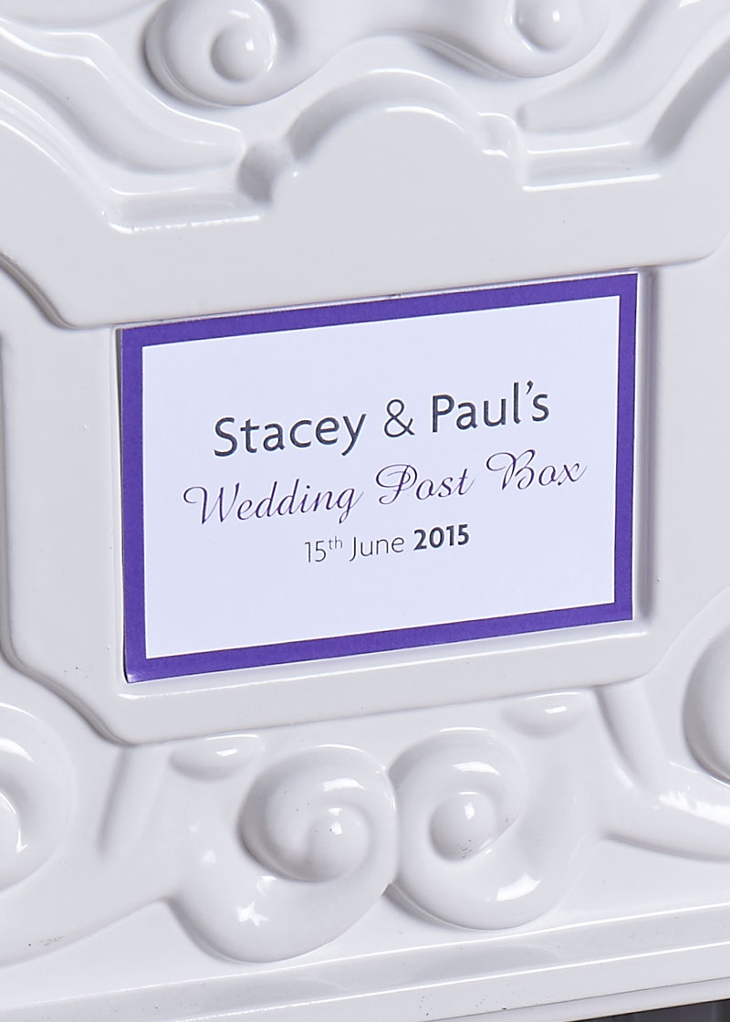 wedding post box name plate